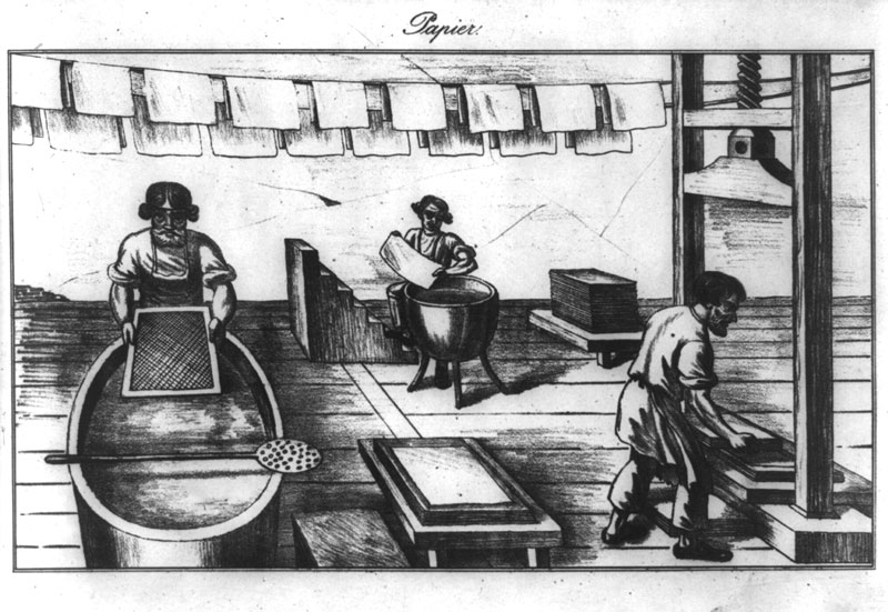 historical paper making process