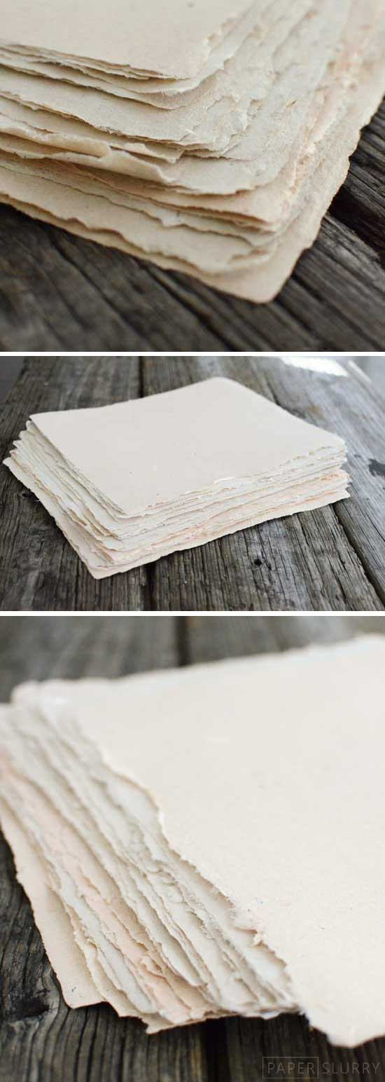 Heres How To Make Handmade Paper From Recycled Materials Paperslurry