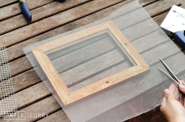 Supplies & How-to tutorial for making a mould deckle for hand papermaking