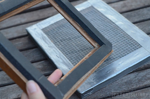 How to make a mold & deckle for making handmade paper