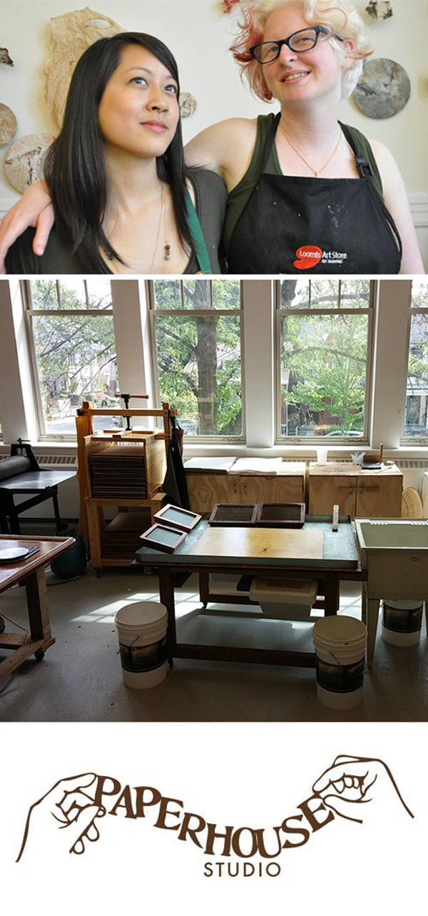 Paperhouse Studio in Toronto, Canada - handmade paper making studio