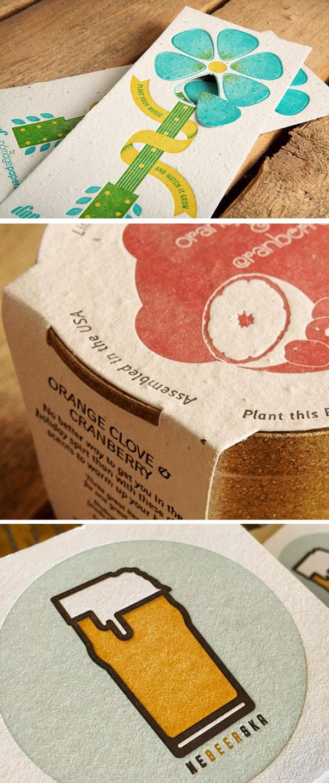 Letterpress Handmade Papers by Porridge Papers - Plantable Paper, Beer Paper