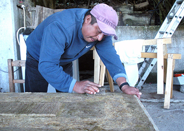 Amate hand papermaking - traditional handmade paper in Mexico