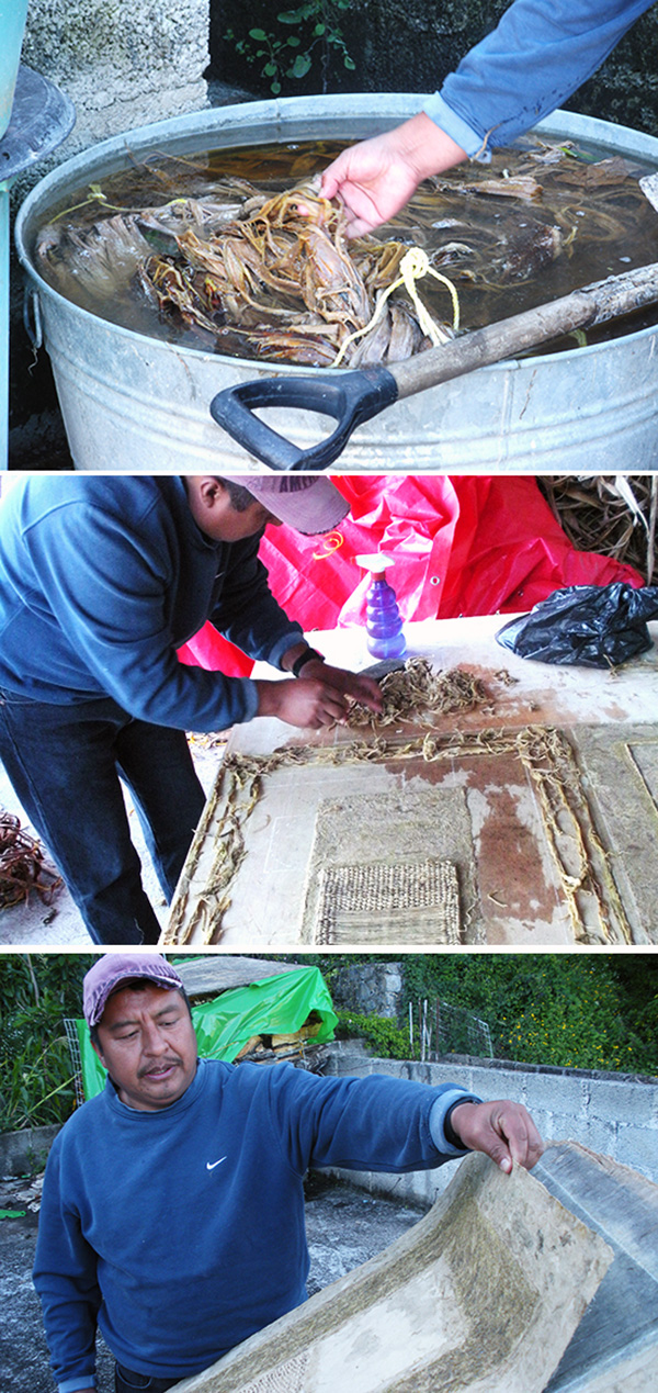 Amate paper making process - handmade paper in Mexico