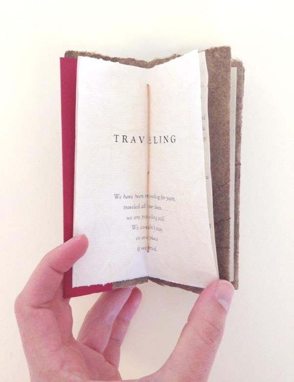 Patricia Bungert - Artist Book with Handmade Paper Plant Fiber