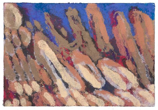Pulp Painting art work - handmade paper artist