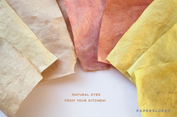 Tutorial for natural dyes at home in your kitchen, for paper