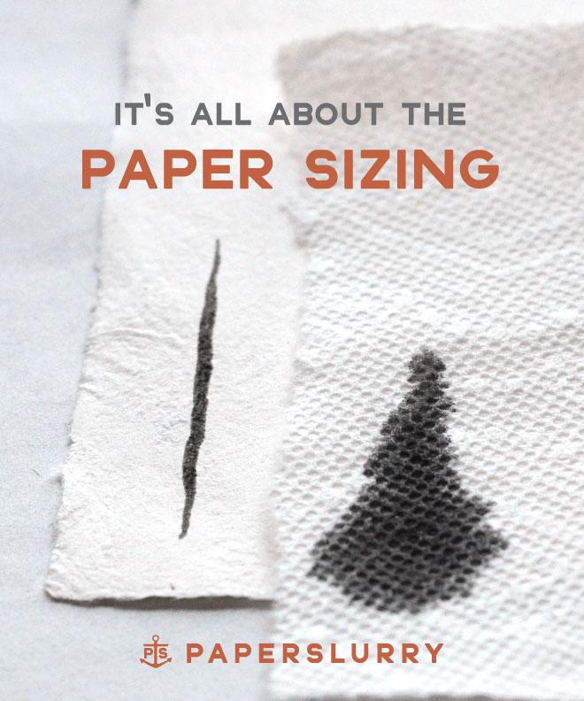 handmade paper sizing