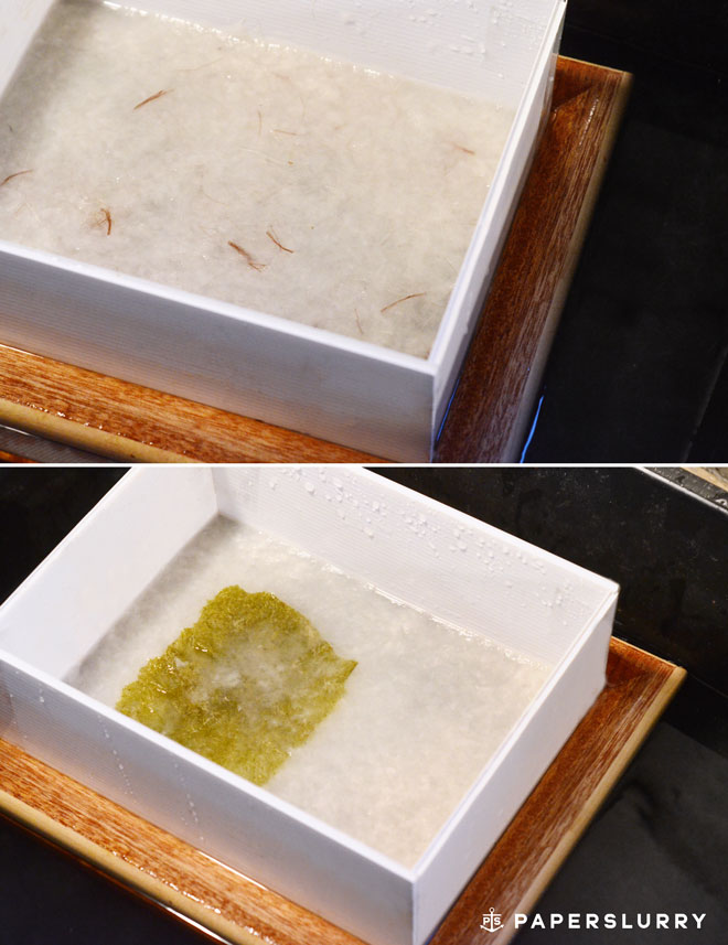 Creative hand papermaking techniques with a deckle box, handmade paper