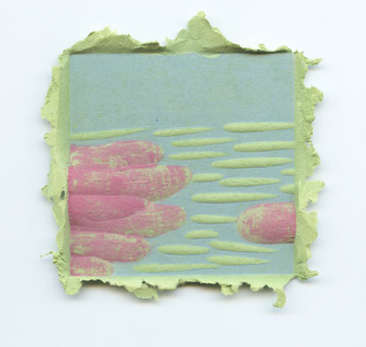 Take a look paper pulp woodblock prints by artist josh for Making paper pulp sculpture