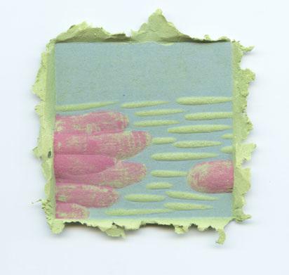 Josh Monroe, artist, paper pulp woodblock prints
