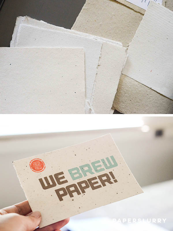 Handmade paper at Fresh Press
